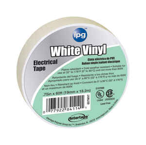 IPG  .75 in. W x 60 ft. L White  Vinyl  Electrical Tape