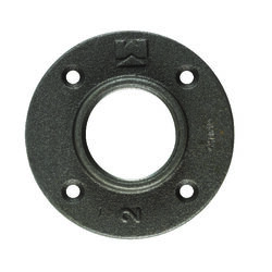 BK Products  2 in. FPT   Black  Malleable Iron  Floor Flange