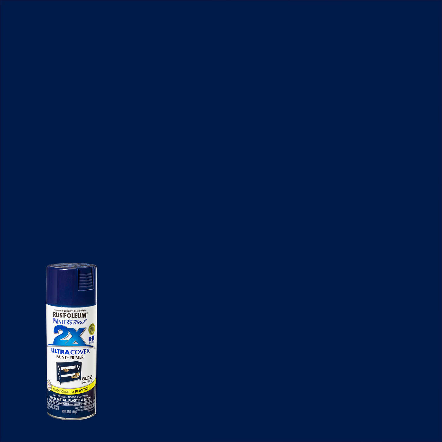 Rust-Oleum Painter's Touch 2X Ultra Cover Gloss Navy Blue Spray Paint 12 oz.