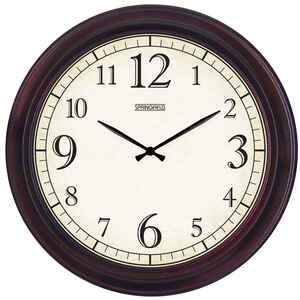 Springfield  Contemporary  Outdoor Clock  Metal  Brown