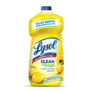 Lysol  Clean and Fresh  Lemon and Sunflower Scent Antibacterial Disinfectant  40 oz.
