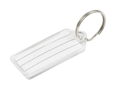 Hillman  Metal  Silver  Labeling/ID  Key Ring