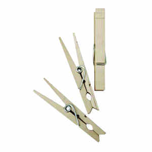 Homz  3.25 in. L Natural  Wood  Clothes Pins