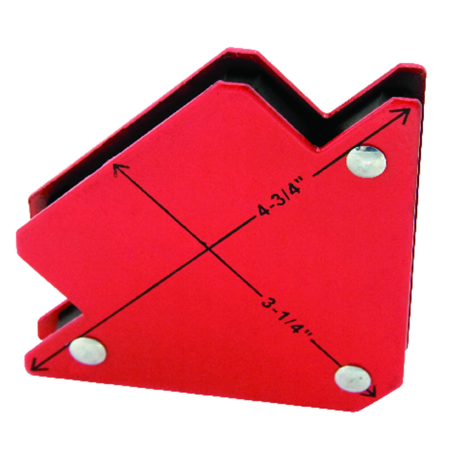 Forney  Metal  Medium  Magnetic Jig  6 in. to 6 in. Red  1 pc.