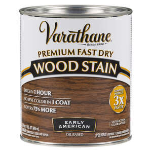Varathane  Premium Fast Dry  Semi-Transparent  Early American  Wood Stain  1 qt.