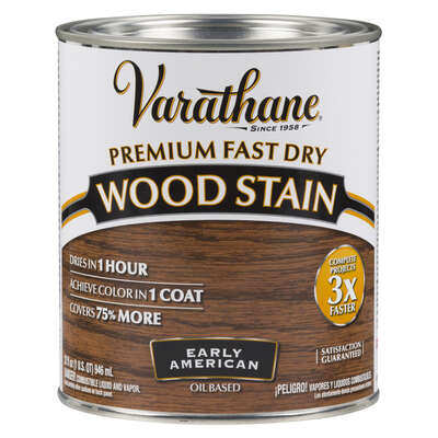 Varathane  Semi-Transparent  Early American  Oil-Based  Urethane Modified Alkyd  Wood Stain  1 qt.