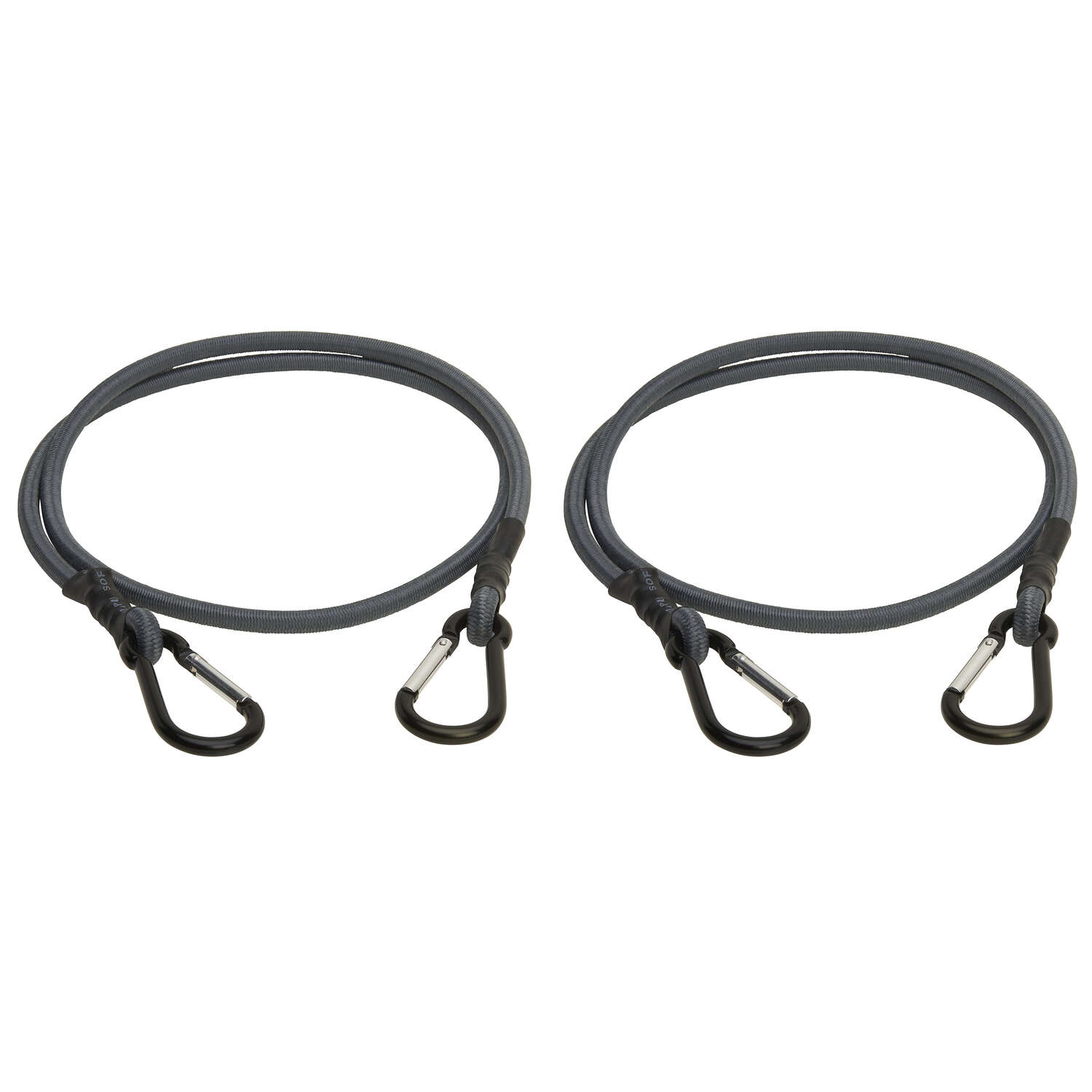 Keeper  Gray  Carabiner Style Bungee Cord  48 in. L x 0.315 in.  1 pk