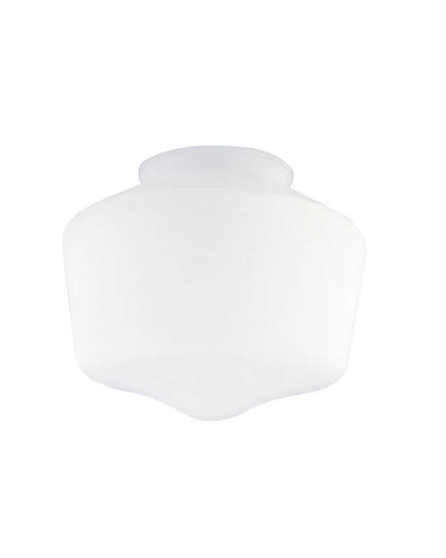 Westinghouse  Schoolhouse  White  Glass  Lamp Shade  1 pk