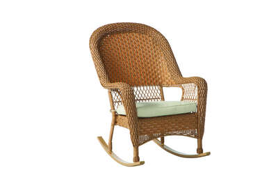 Palmaro  Tan  Wicker Frame Stackable  Rocking Chair