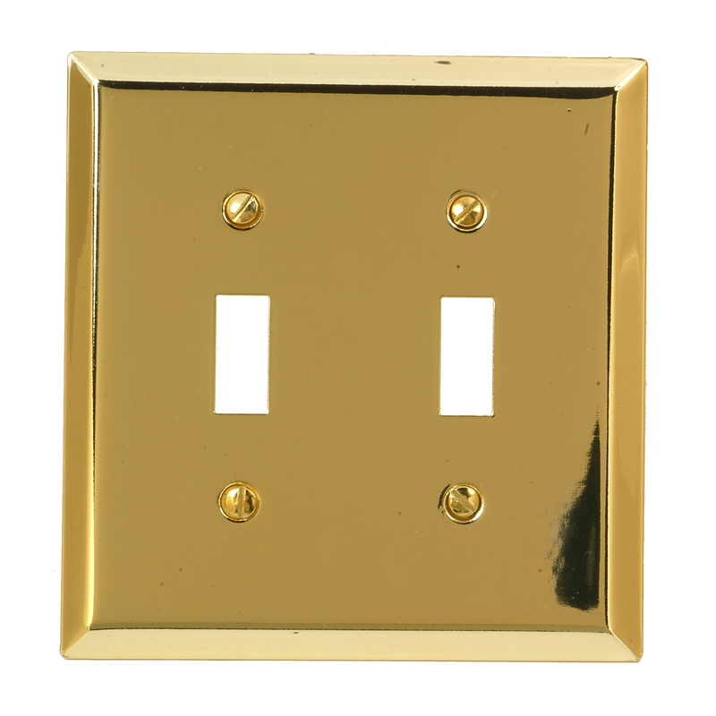 Amerelle  2 gang Toggle  Stamped Steel  1 pk Wall Plate