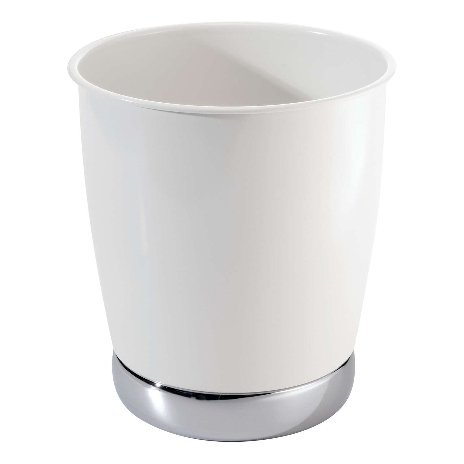 InterDesign York White Steel Classic American Trash Can