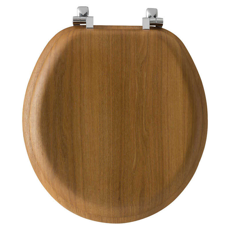 Bemis Mayfair Round Oak Wood Toilet Seat Ace Hardware