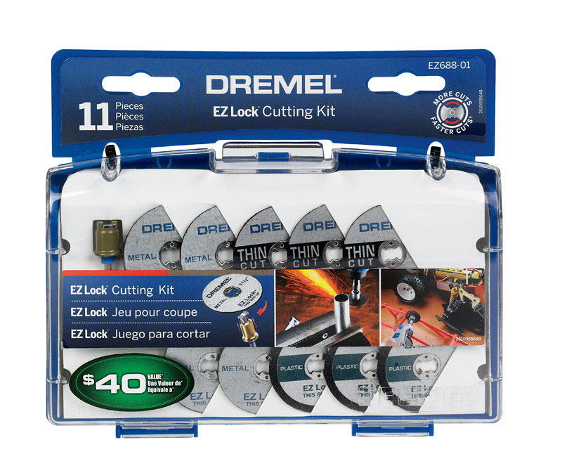 Dremel  7   x 7 in. L Metal  Cutting Kit  12 pc.
