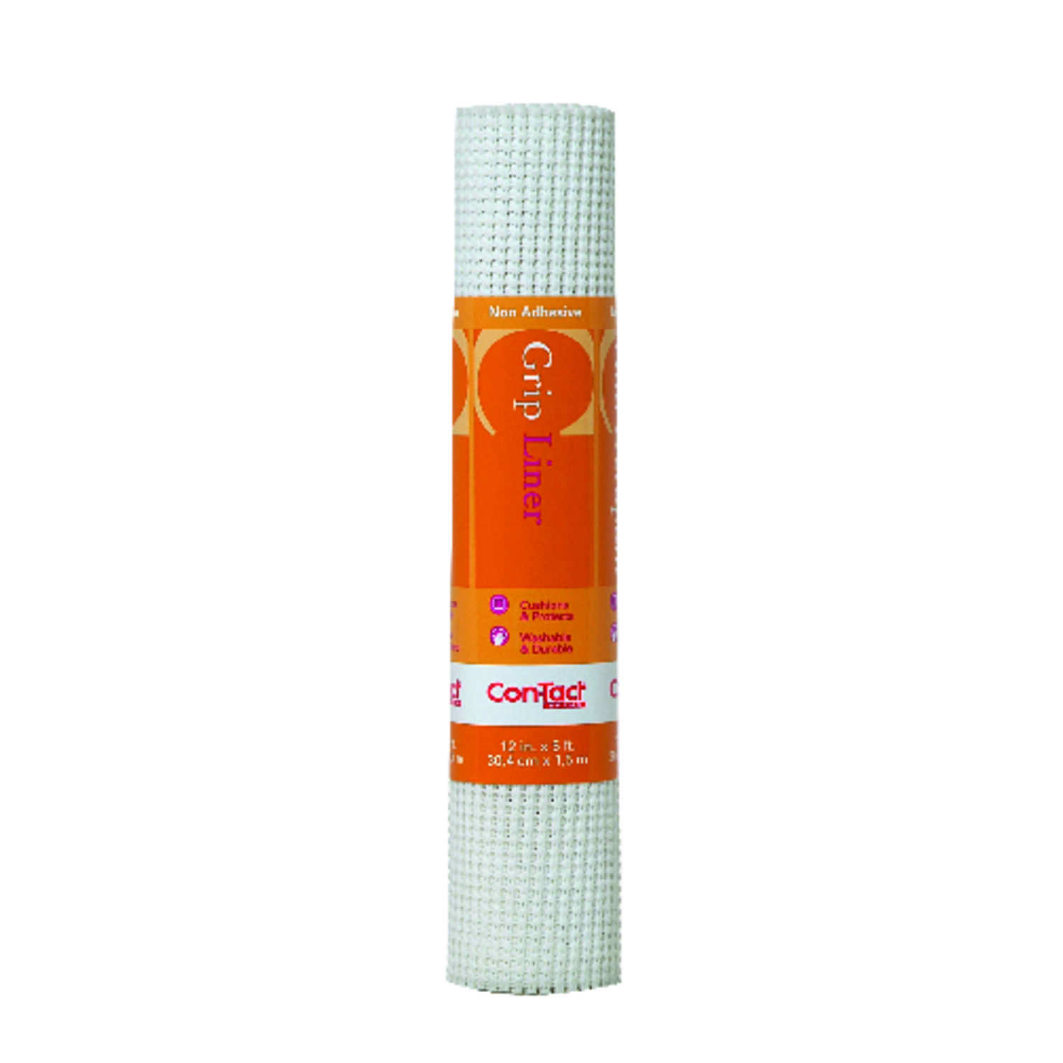 Con-Tact  Grip Liner  5 ft. L x 12 in. W White  Non-Adhesive  Beaded Liner
