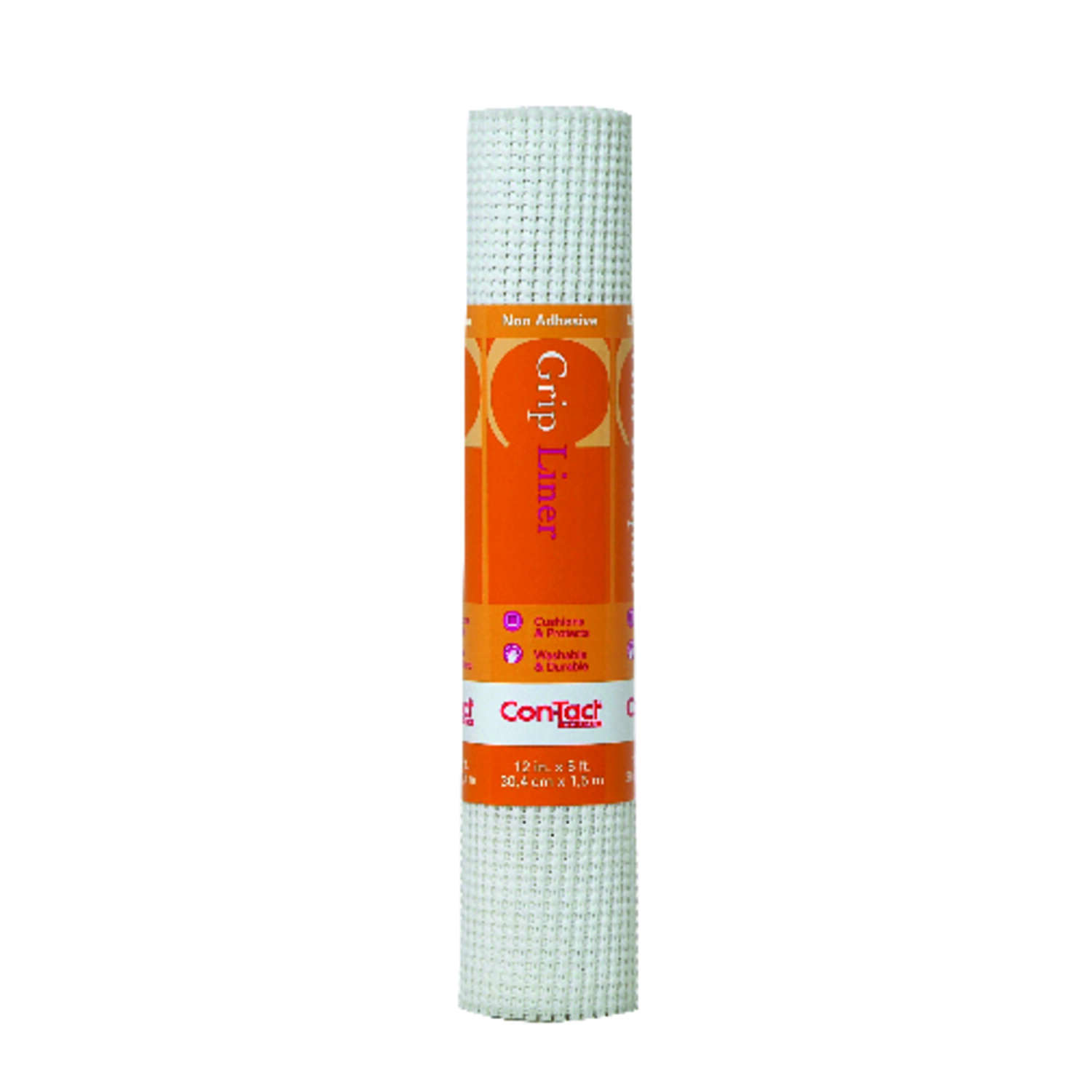 Con-Tact Brand  Beaded Grip  5 ft. L x 12 in. W White  Non-Adhesive  Shelf Liner