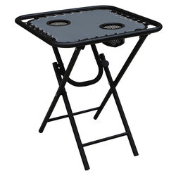 Living Accents Square Gray Bungee Side Table