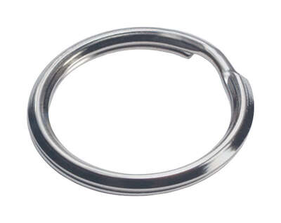 Hillman  1-1/2 in. Dia. Tempered Steel  Multicolored  Split Rings/Cable Rings  Key Ring