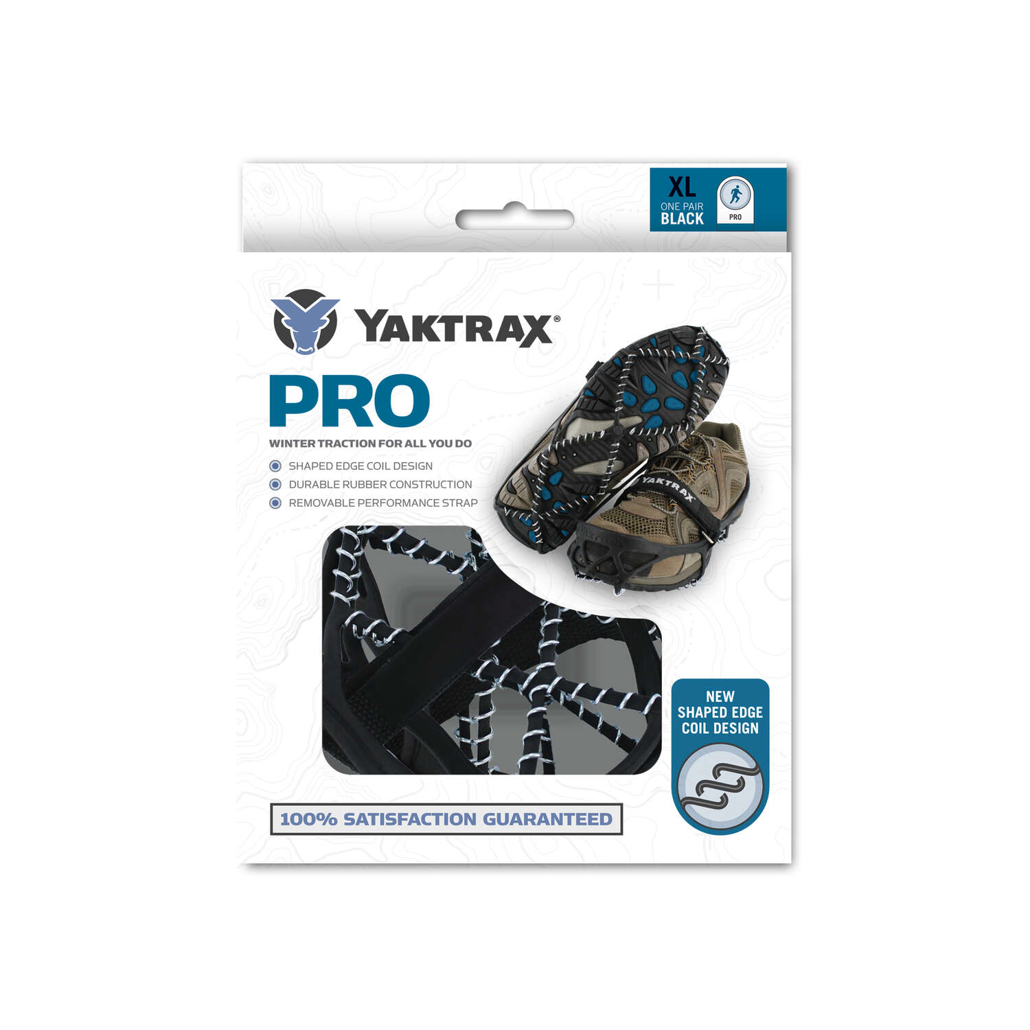 Yaktrax  PRO  Unisex  Traction Device  Black  W 10.5-12.5/M 9-11  Waterproof 1 pair Rubber/Steel