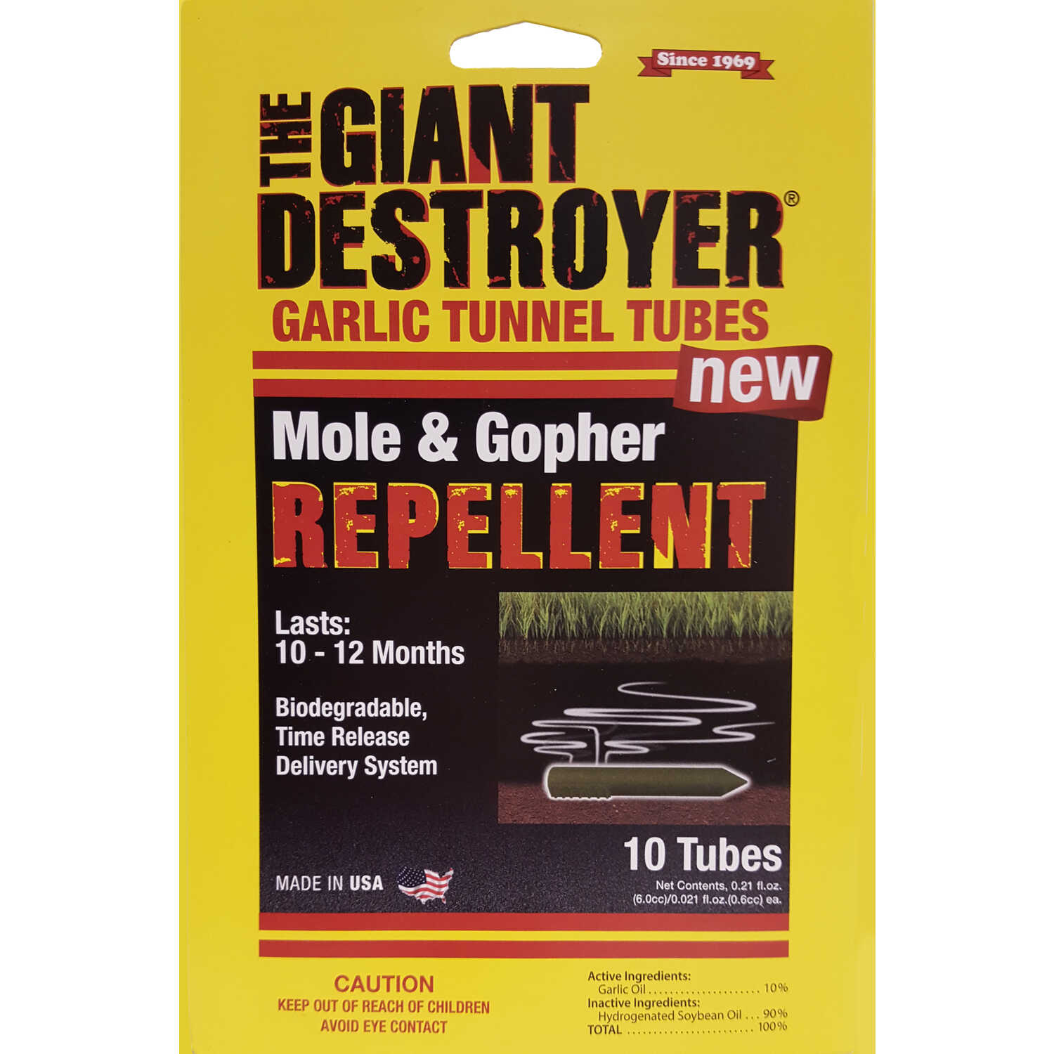 Atlas  The Giant Destroyer  For Gophers/Moles Animal Repellent  10 tube