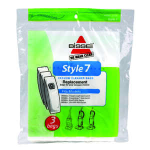 Bissell  Vacuum Bag  For Bagged Vacuums 3 pk