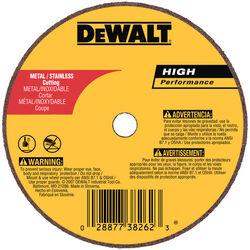 DeWalt  High Performance  3 in. Dia. x 1/4 in.  Aluminum Oxide  Cut-Off Wheel  1 pc.