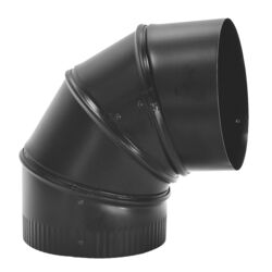 Imperial 6 in. Dia. x 9 in. L Steel Stove Pipe Elbow