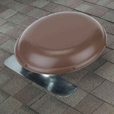 Air Vent  26.2 in. H x 25.5 in. W x 9 in. L x 14.5 in. Dia. Brown  Metal  Power Roof Ventilator