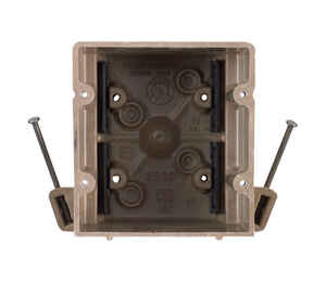 Allied Moulded  3-3/4 in. Square  Fiberglass  2 gang Switch Box  Beige/Tan