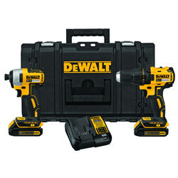 DeWalt  20V MAX  Cordless  Brushless 2 tool Compact Drill and Impact Driver Kit  20 volt