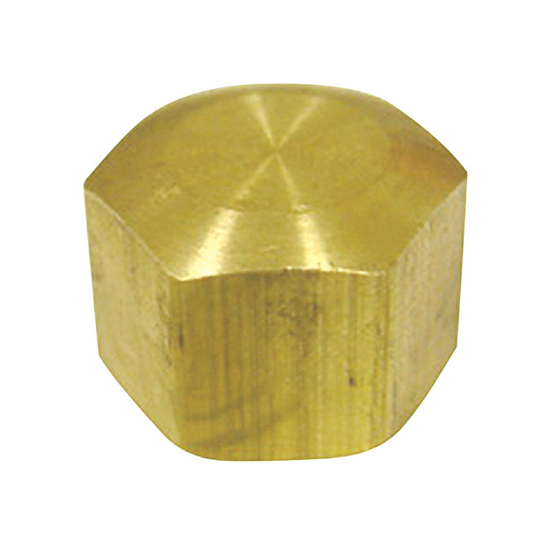 Ace  5/16 in. Dia. x 5/16 in. Dia. Compression To Compression To Compression  Yellow Brass  Cap
