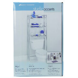 Zenith  Studio Accents  Bathroom Spacesaver  61 in. H x 25.25  W x 9.65 in. L Silver  Steel