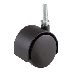 Shepherd  2 in. Dia. Swivel Nylon  Twin Caster  75 lb.