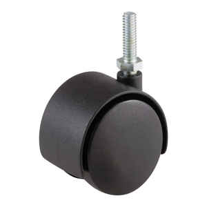 Shepherd  2 in. Dia. Swivel Nylon  Twin Wheel Threaded  75 lb.