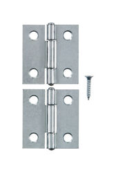 Ace 1-7/16 in. W x 1-1/2 in. L Zinc Plated Zinc Narrow Hinge 2 pk