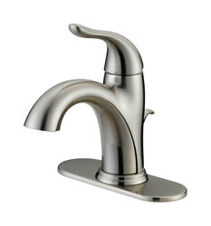 OakBrook Pacifica Brushed Nickel Single Handle Lavatory Pop-Up Faucet 4 in.