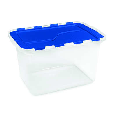 Homz  13 in. H x 23 in. W x 14.75 in. D Stackable Storage Tote
