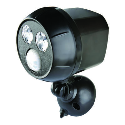 Mr. Beams  Motion-Sensing  Battery Powered  LED  Dark Brown  Spotlight