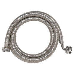Ace  3/4 in. Hose Thread   x 3/4 in. Dia. Hose Thread  4 in. Stainless Steel  Supply Line