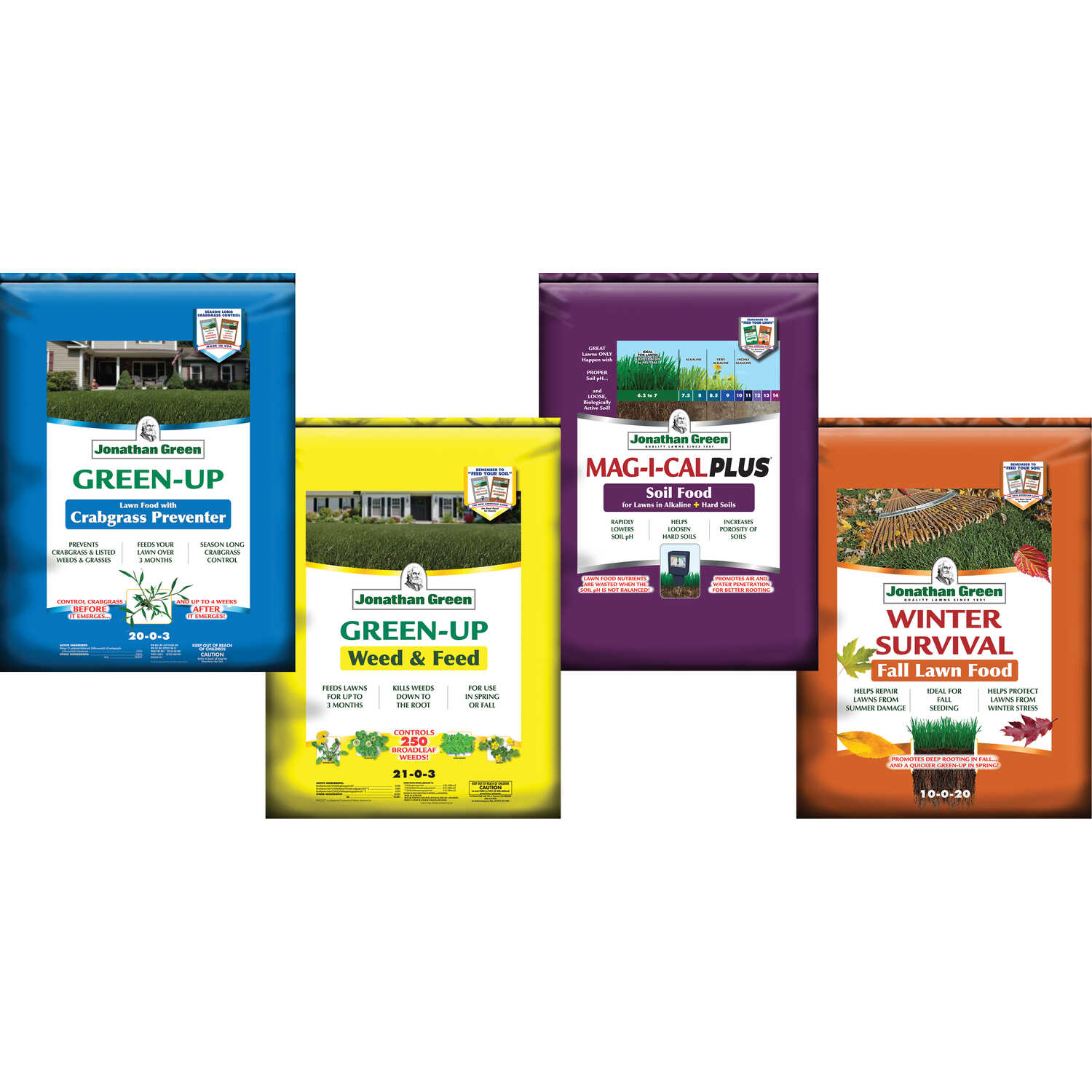 Jonathan Green  4-Step Program Alkaline Soil 15M  Lawn Fertilizer  15000 sq. ft.