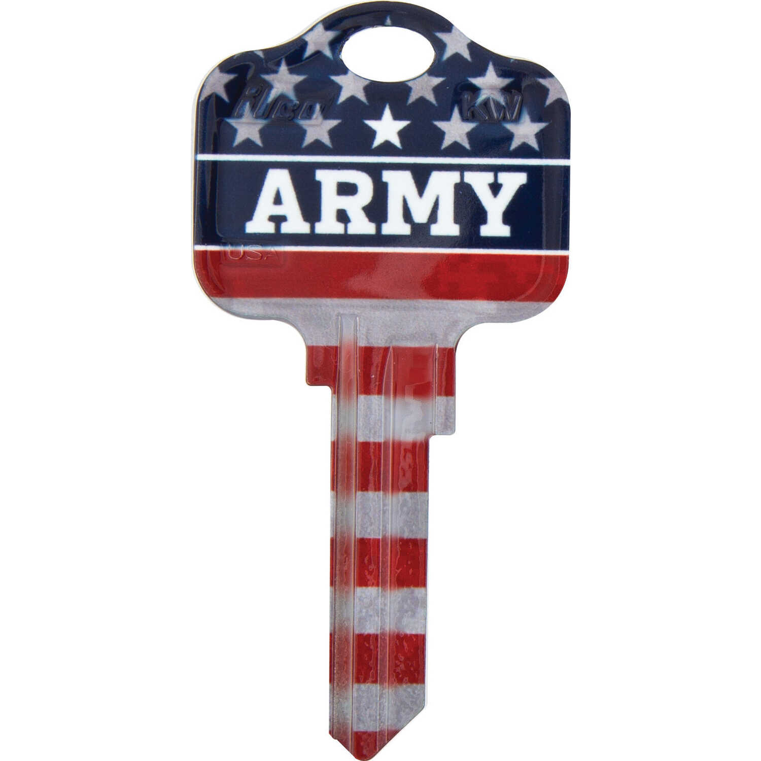 Kaba Ilco  Kwikset  Army/Flag  House/Office  Key Blank  Single sided