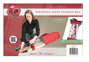 Santa's Bags  Wrapping Paper  40 in. H x 9 in. W x 9 in. D Storage Bag