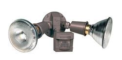 Heath Zenith Motion-Sensing Hardwired Incandescent Bronze Floodlight