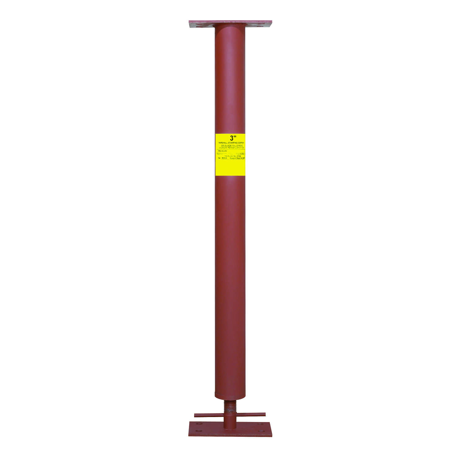 Marshall Stamping  Extend-O-Columns  3 in. Dia. x 85 in. H Adjustable Building Support Column  17300