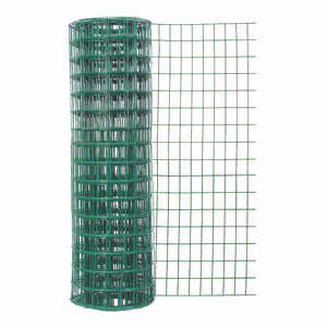 Garden Zone Green Garden Fence 25 in. x 50 ft. Vinyl 2 in. x 3 in. 16 Ga Green 25 in. 50 ft.