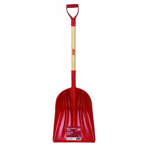 Ace  Red  46 in. L x 14-1/4 in. W Grain Scoop  Poly