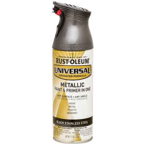 Rust-Oleum  Universal Paint & Primer in One  Black Stainless Steel  Spray Paint  11 oz.