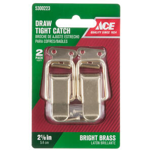 Ace  Bright  Zinc  Drawer Catch  2 pk