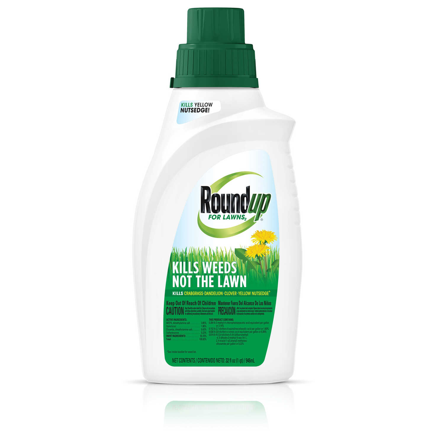 Roundup  For Lawns  Weed Killer  Concentrate  32 oz.