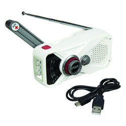 Eton  White  Weather Alert Radio Flashlight  Digital  Battery Operated