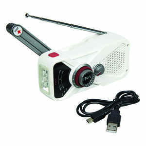 American Red Cross  White  Weather Alert Radio Flashlight  Digital  Battery Operated
